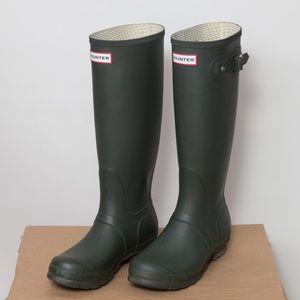 Hunter Original Tall Matte Forrest Green Boots 7